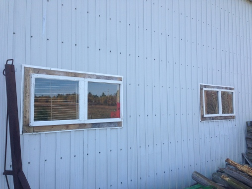 New barn windows (North side)