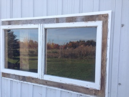 New barn window (North side)